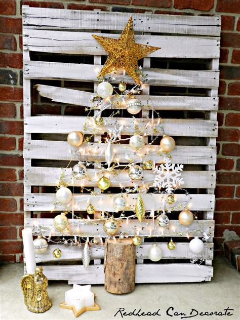 Fall Front Porch Decorations - pallet christmas tree a little craft in your day