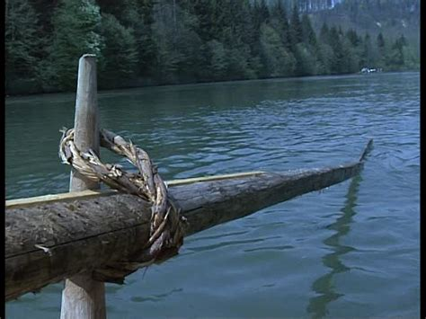 paddle boat rudder rafter working upper bavaria germany sd stock