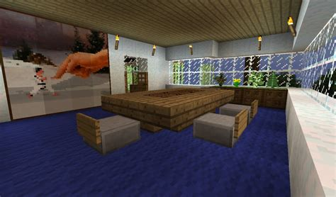 minecraft dining room modern house in the woods minecraft project