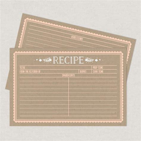 printable kraft card kraft recipe cards printable by basic invite