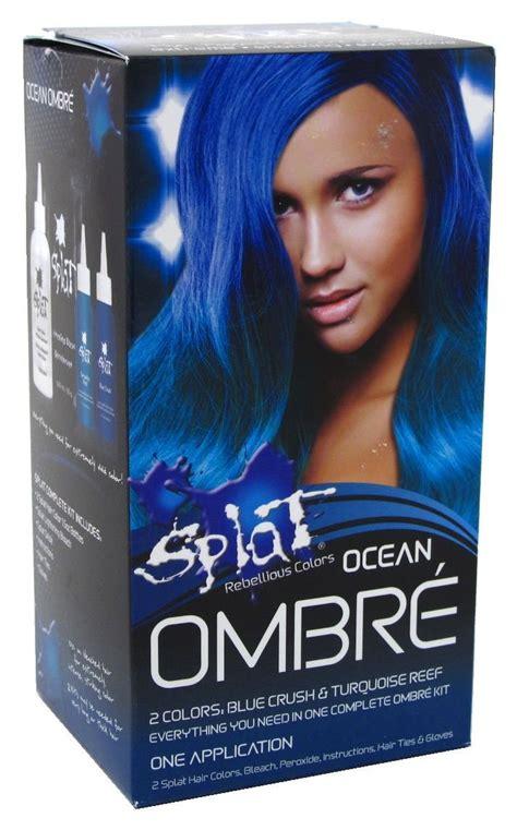 splat ocean ombre splat kit ombre haircolor ocean 2 colors blue crush