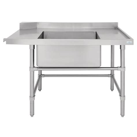 stainless steel table with sink vogue rh dishwasher inlet table with sink 1200x700x960mm stainless steel kitchen ebay