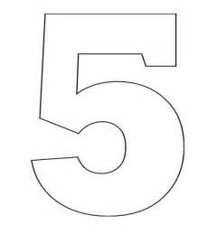 number 5 coloring getcoloringpages