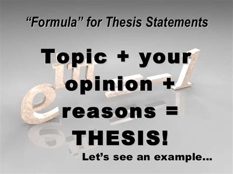 How To Write An Essay Thesis by Writing A Thesis Statement