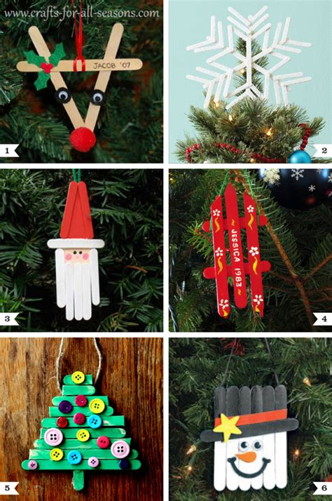 tree decorations children can make diy popsicle stick ornaments plus a tree topper chickabug
