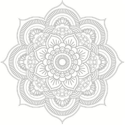 hindu mandala coloring pages hindu lotus flower mandala gallery