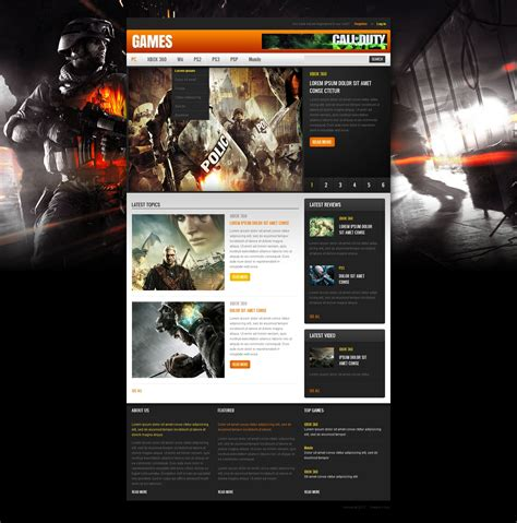 game portal website template 40507