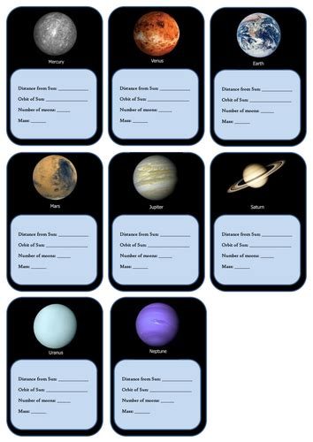 solar system trading cards template high school planets top trumps by carly11 teaching resources tes