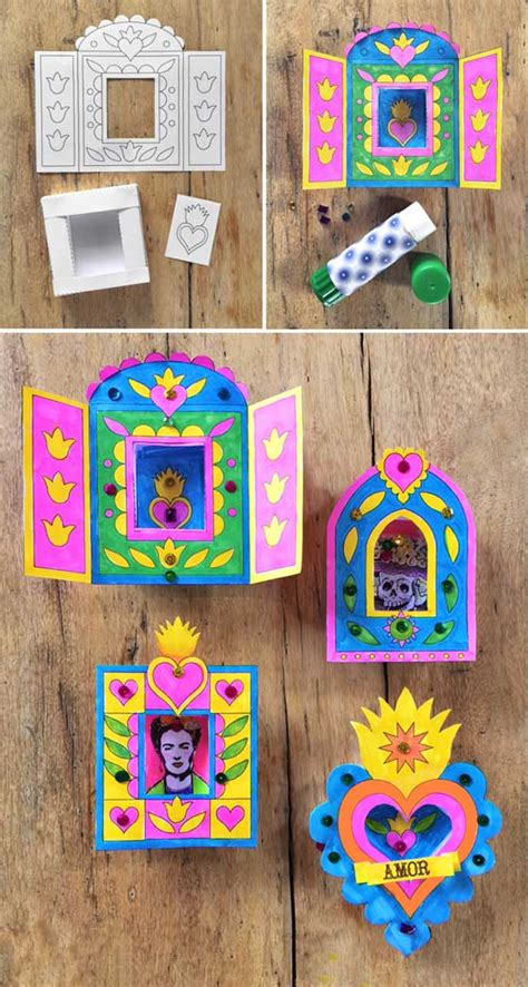 mexico crafts for nicho craft activity for day of the dead easy diy