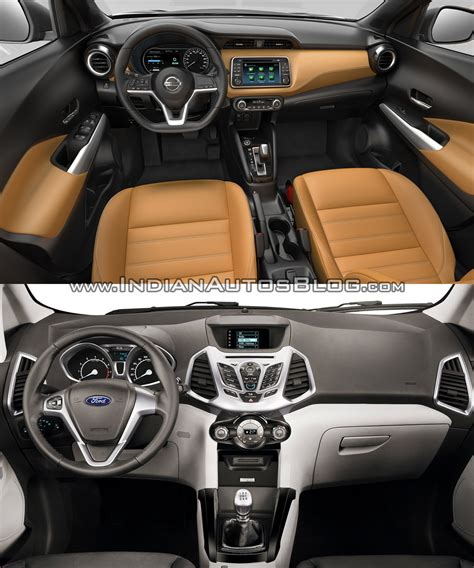 nissan kicks interior nissan kicks vs ford ecosport in images