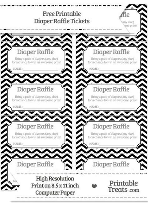 free black chevron diaper raffle tickets baby jaxon s