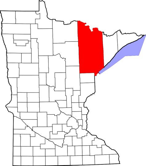 Minnesota Warrant Search St Louis County File Map Of Minnesota Highlighting Louis County Svg