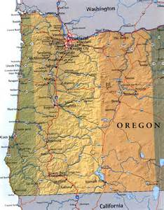 map of western oregon usa