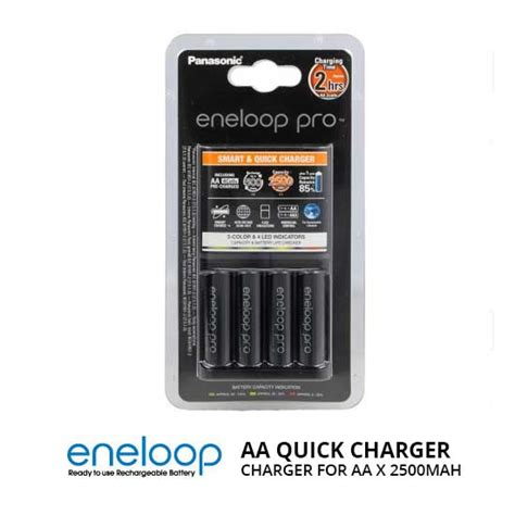 Panasonic Eneloop Aaa Isi 4 jual panasonic eneloop pro charger baterai 4 aa x
