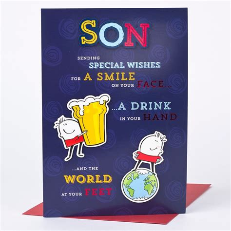Birthday Cards For On Birthday Card World At Your Feet Son Only 163 1 49