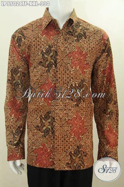 desain baju batik lengan panjang pria hem lengan panjang batik klasik full furing baju batik