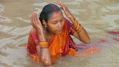 indian girl bathing in bathroom the ganges river the story of india photo gallery pbs