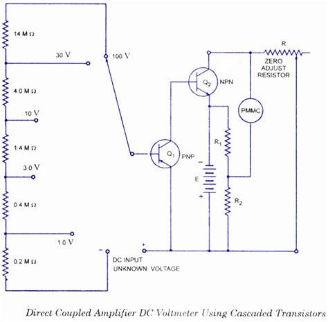 schematic diagram of voltmeter dc voltmeter circuit diagram block diagram basic guide