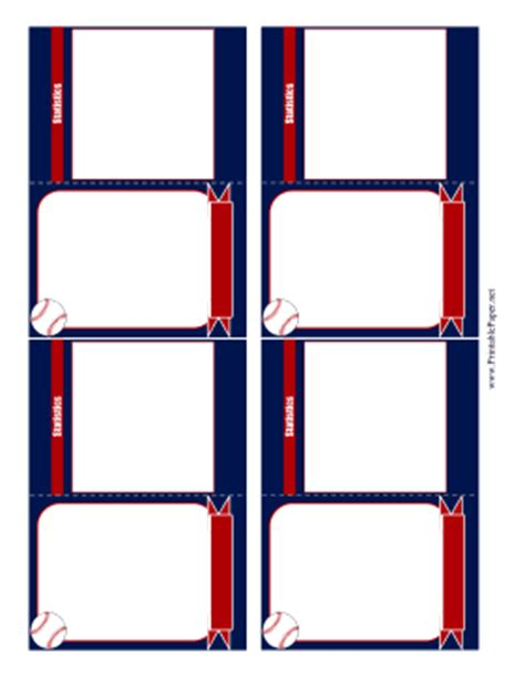 Printable Baseball Card Template Free Baseball Card Template