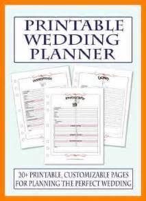 free printable wedding planner templates 7 free printable wedding planner organizer hostess resume