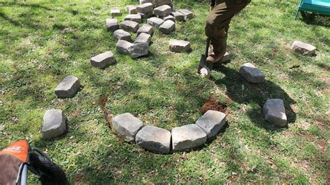 how to build a fire pit in your backyard i used a fire