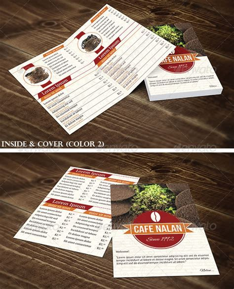 half fold menu template stylish food menu templates
