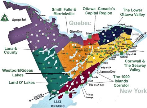 map of eastern canada with cities tdc s farmgate farm markets regional map