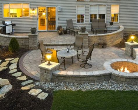 patio and firepit ideas backyard patio ideas with pit landscaping