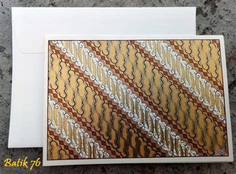 Kartu Ucapan Handmade Batik76 Motif 1 jual kartu ucapan handmade motif parang gold size l kartu ucapan batik kartu ucapan ulang