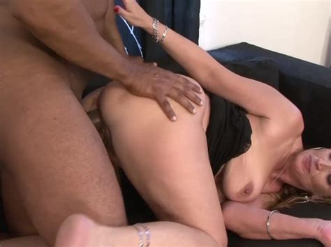 Hairy Pussy Granny Gets Interracial Fucked By Big Black