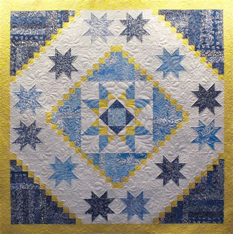 And Blue Quilt by Blue And Yellow Wall Hanging 1