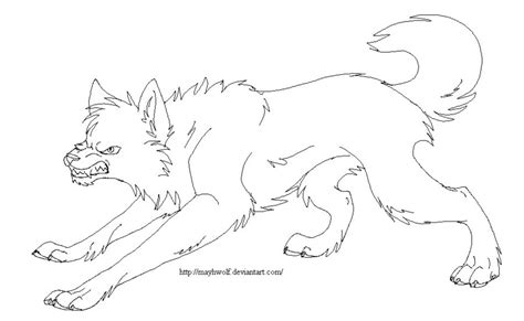 angry wolf coloring page lineart angry wolf by mayhwolf on deviantart