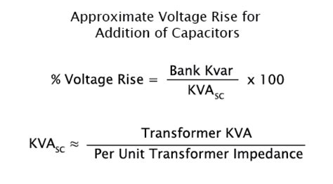 capacitor bank voltage rise nepsi power factor and general power system analysis formulas and calculators