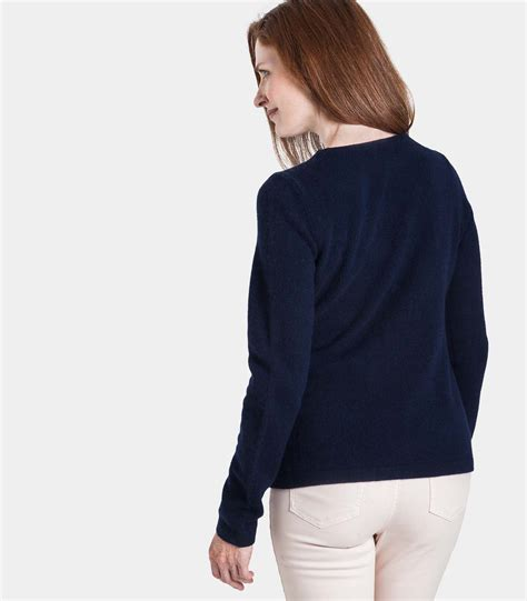 Df Navy Sweater Smile navy lambswool zip jacket cardigan