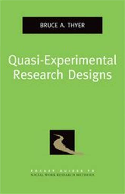 experimental and quasi experimental designs for generalized causal inference quasi experimental