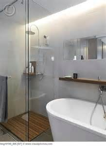 small glass shower in corner of modern bathroom lmg10190