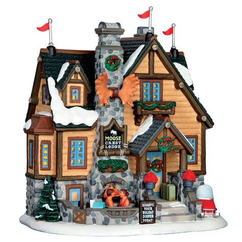 lemax christmas collection lemax collection building moose crest lodge shop your way