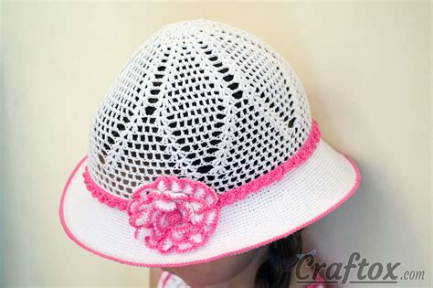 crochet pattern 1 year old hat crochet white hat for 4 5 year old girl free pattern