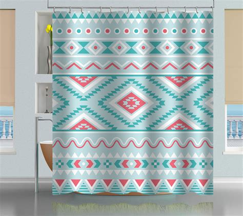 aztec shower curtain aztec tribal pattern shower curtain creativgoods