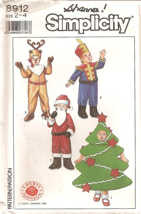 simplicity 8912 christmas costume pattern tree by