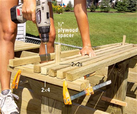 build a deck bench making built in benches for your deck custom touches how to design build a deck