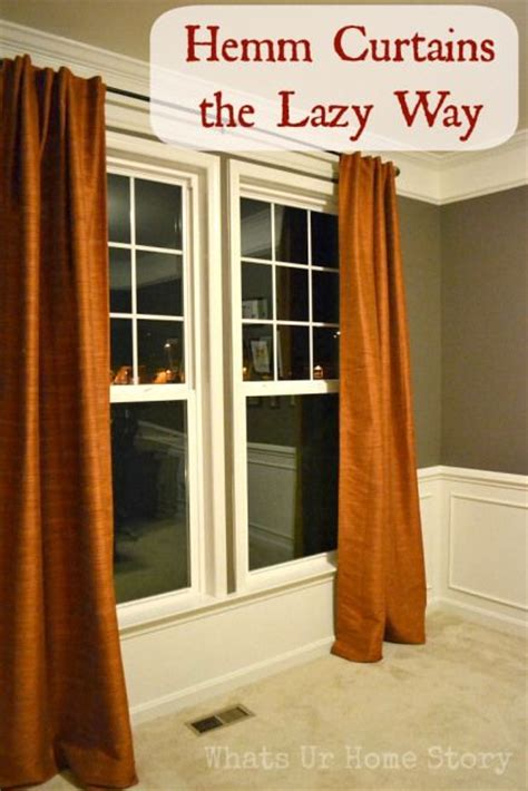 how to hem curtains without sewing 17 best ideas about homemade curtains on pinterest diy