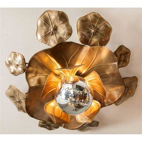 lotus flower pendant light lotus flower ceiling lights for sale at 1stdibs