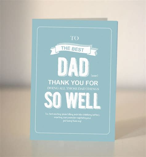 Card for Dad / To the Best Dad / thank you Dad   Dickens ink.