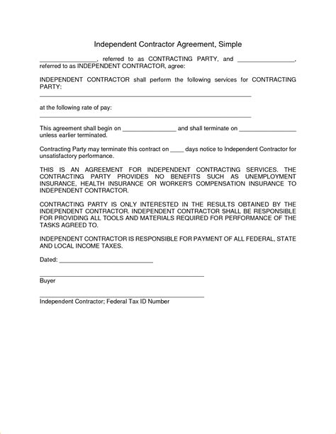 real estate independent contractor agreement template simple independent contractor agreement subcontractors