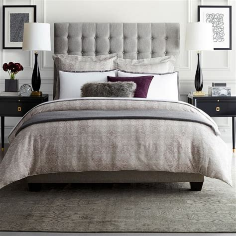 william sonoma bedding italian border sateen bedding williams sonoma