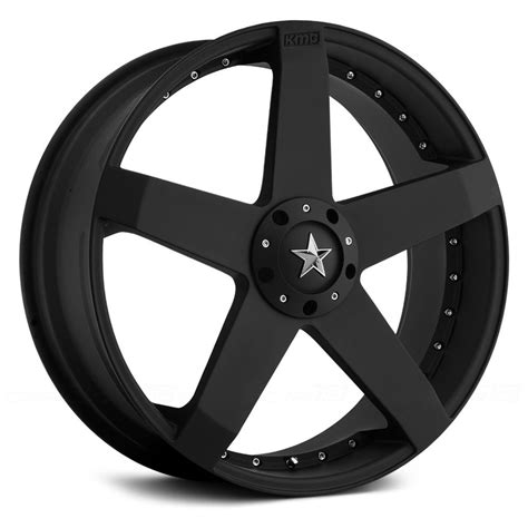 black wheels kmc 174 km775 rockstar car wheels matte black rims