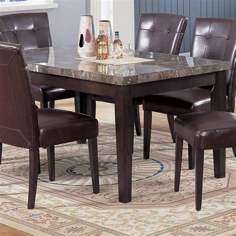 black marble dining room table acme furniture 7058 rectangular dining table with black