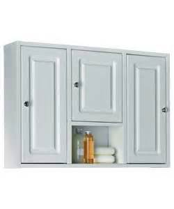 buy large wooden 3 door bathroom cabinet white at argos