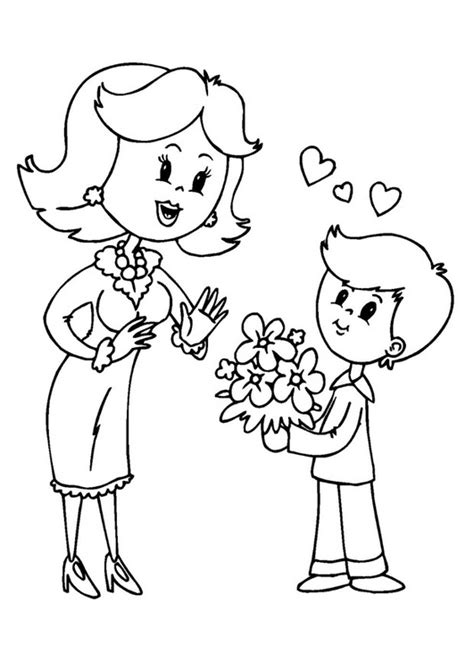 dibujos para colorear regalo del da de la madre im 225 genes del d 237 a de la madre con dibujos para descargar